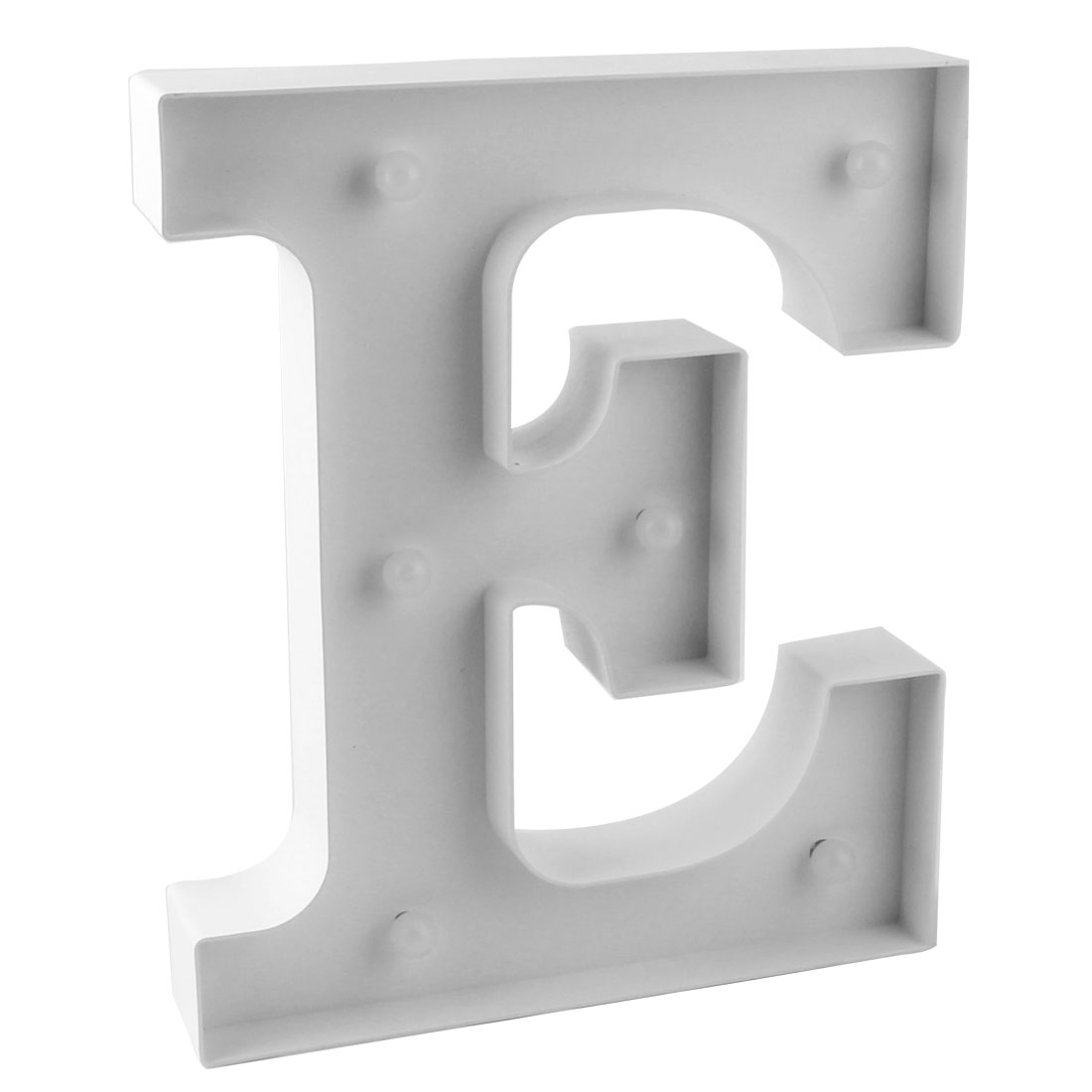 Wedding Party Plastic Decor English E Letter Alphabet Word Free DIY Hanging LED Light White