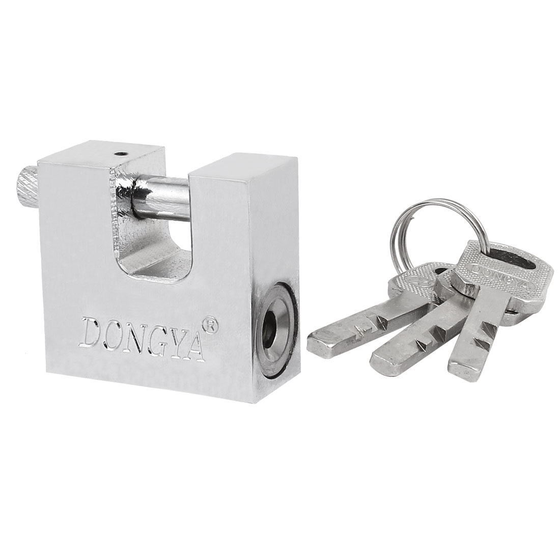 Home Office Rectangle Shaped Security Lock Padlock Silver Tone 50x40x20mm