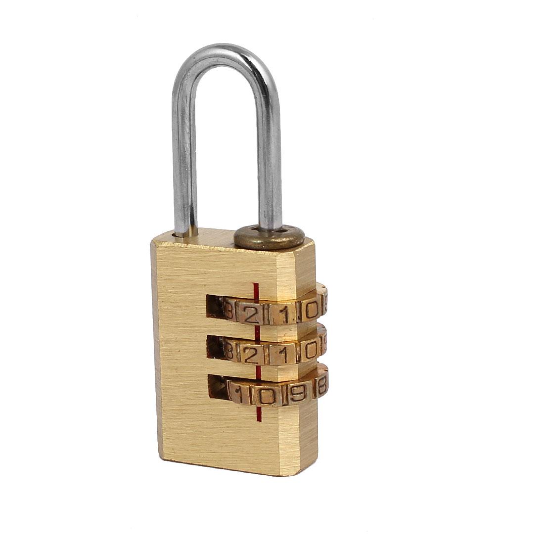 Suitcase Luggage Metal 3 Digit 0-9 Number Password Combination Lock Padlock