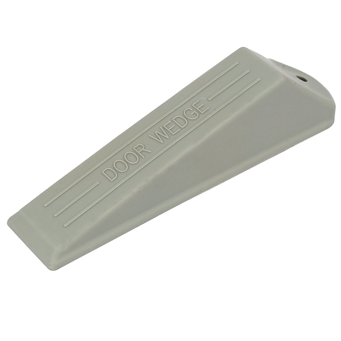 Home Office Rubber Safety Wedge Jam Door Stopper Doorstop Gray 134mm Length