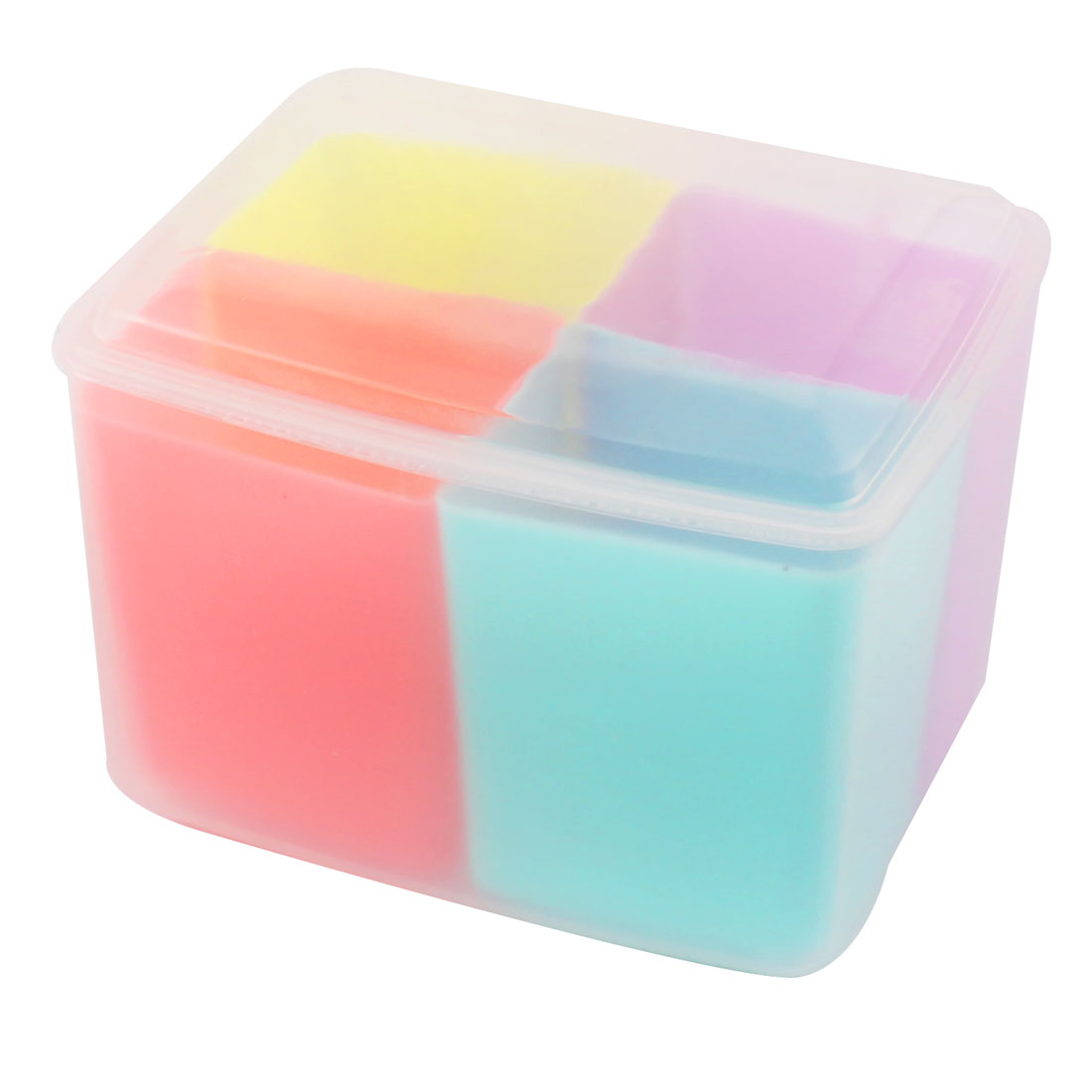Household Kitchenware Plastic 4 Compartments Seasoning Box Spices Condiment Container Multicolor