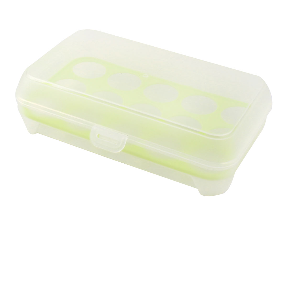 Household Kitchen Refrigerator Plastic Rectangle Shaped 15 Slots Eggs Storage Box Container Case Yellow