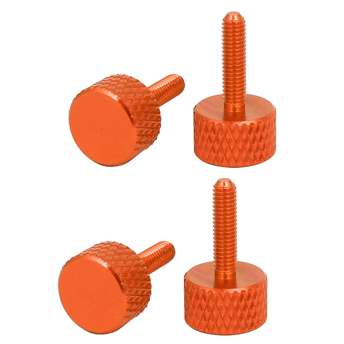 Computer PC Graphics Card Knurled Head Thumb Screws Orange M3x12mm 4pcs