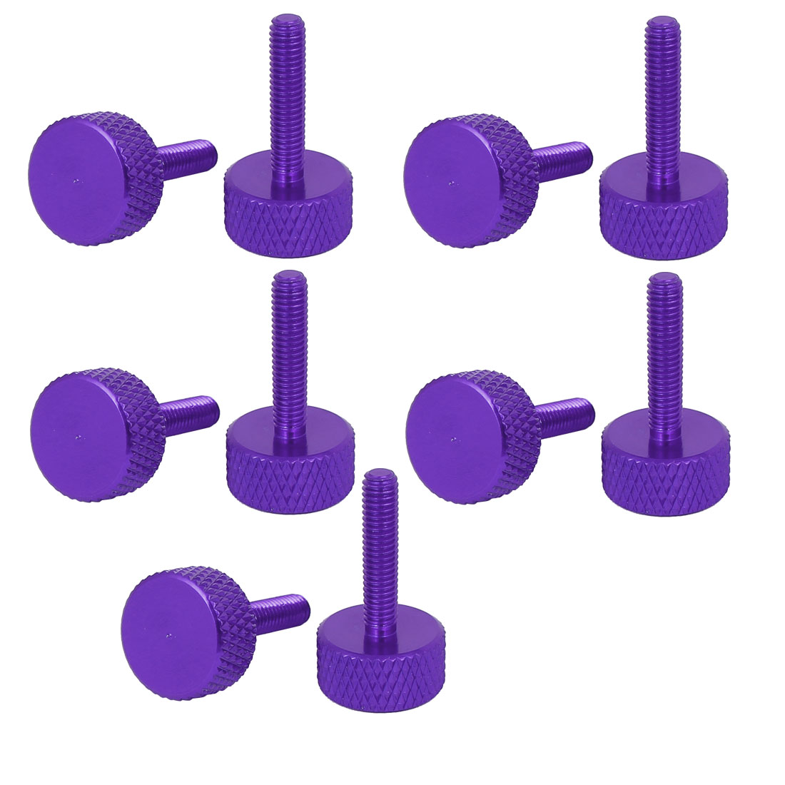 Computer Graphics Card Flat Head Knurled Thumb Screws Purple M3.5x16mm 10pcs