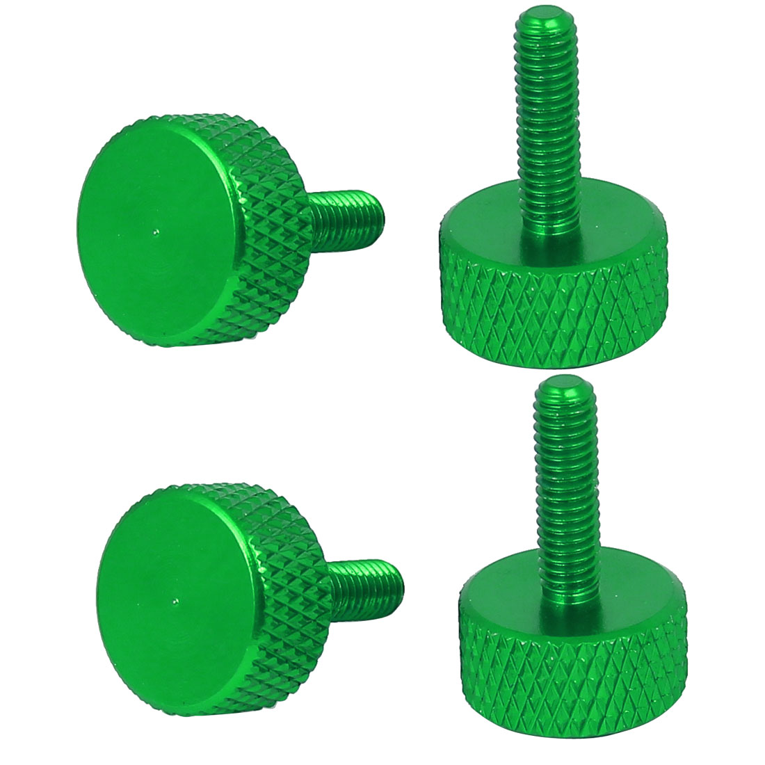 Computer Graphics Card Flat Head Knurled Thumb Screws Green M3.5x12mm 4pcs