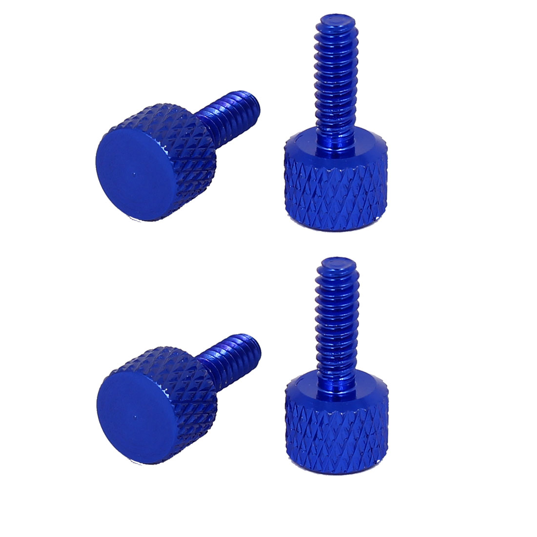 Computer Graphics Card Round Head Knurled Thumb Screws Royal Blue 6#-32 4pcs