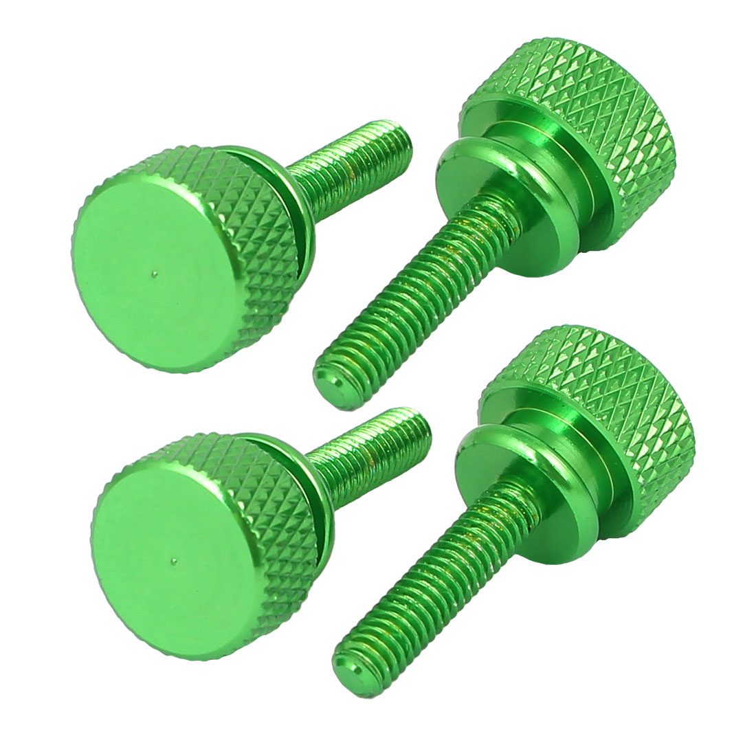 Computer PC Case Shoulder Type Knurled Thumb Screw Green M4x16mm 4pcs