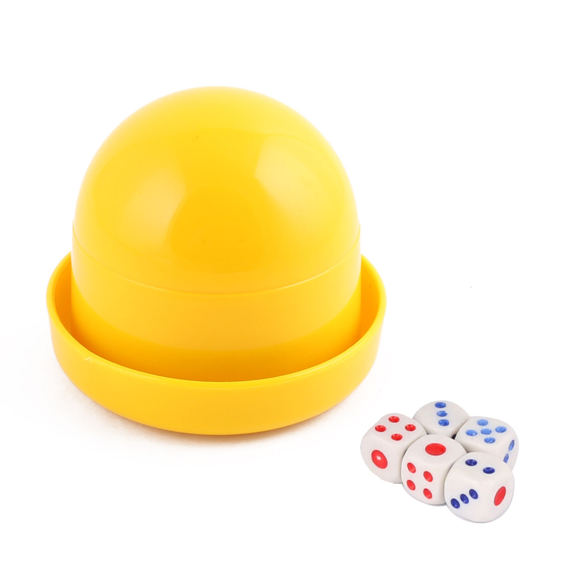 Party Casino Games Plastic Cylindrical Hand Shaker Cup Entertainment Dice Yellow