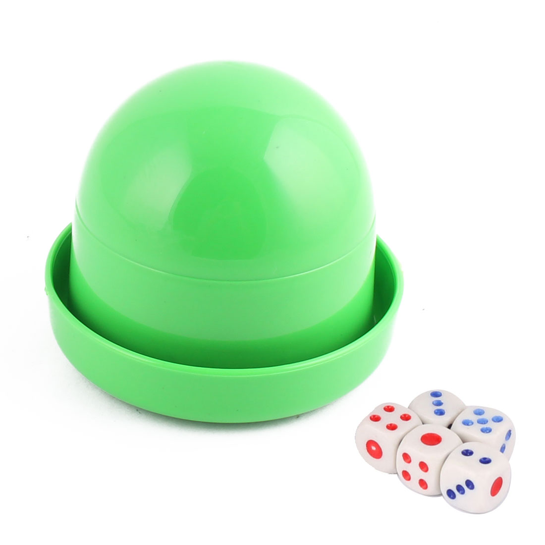 Party Casino Games Plastic Cylindrical Hand Shaker Cup Entertainment Dice Green