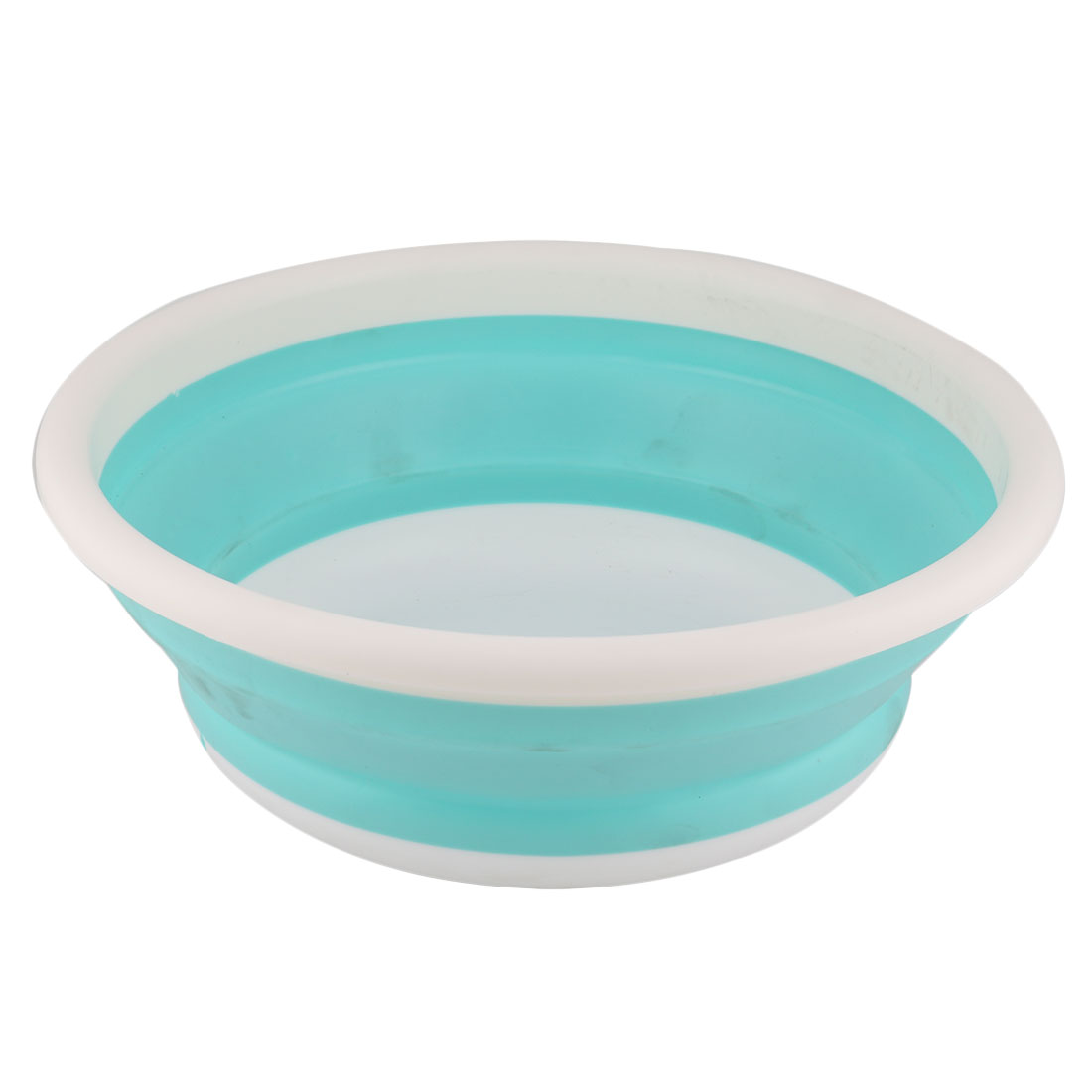 Home Outdoor Plastic Portable Folding Foldable Wash Basin Water Storage Container Holder Blue