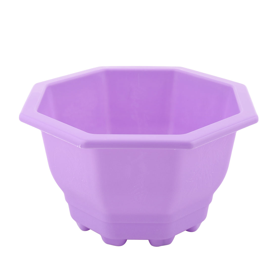 Home Office Garden Plastic Octagon Shaped Decoration Flower Plant Pot Planter Holder Purple