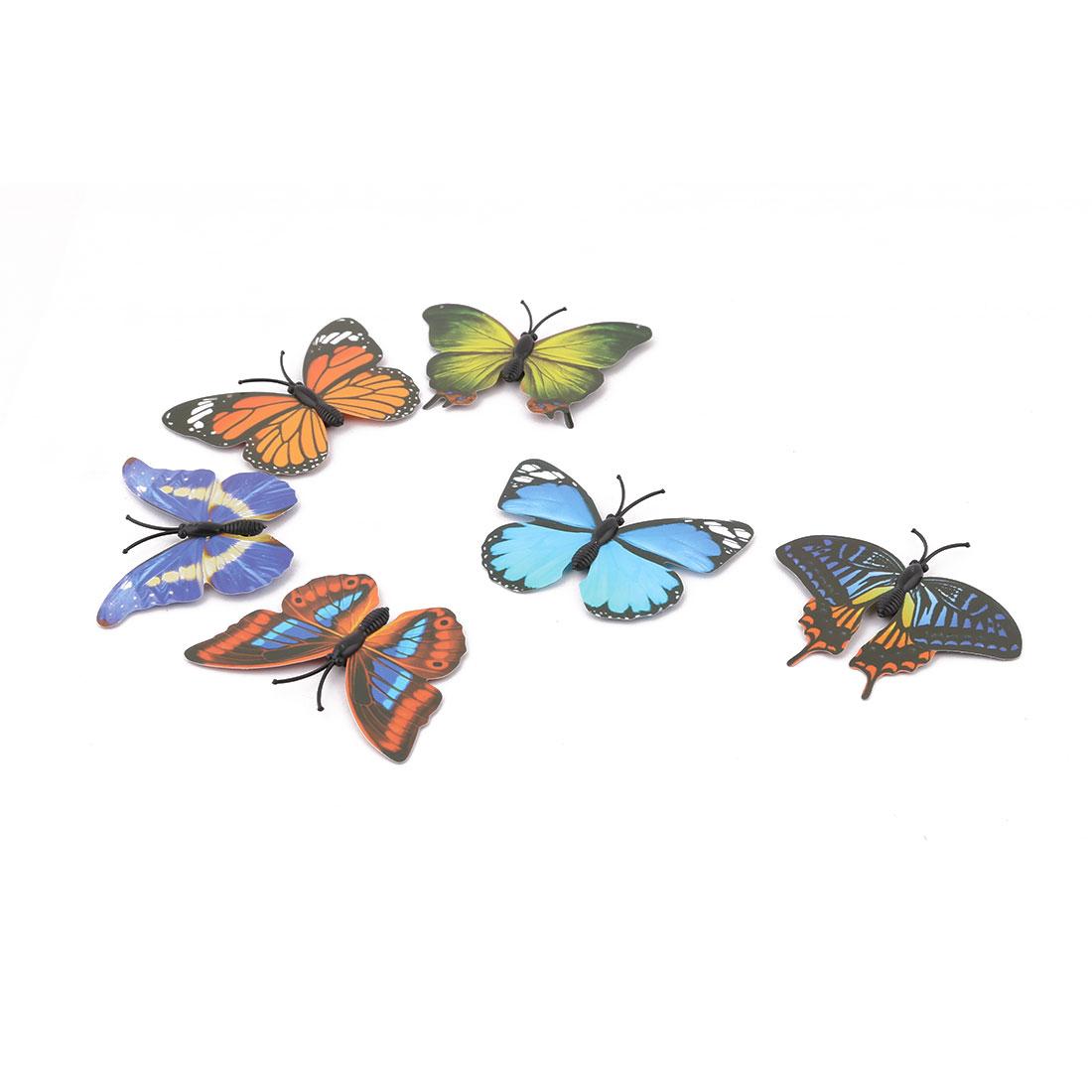 Household Fridge Plastic Whiteboard Bulletin Board Butterfly Design Magnet Colorful 6pcs