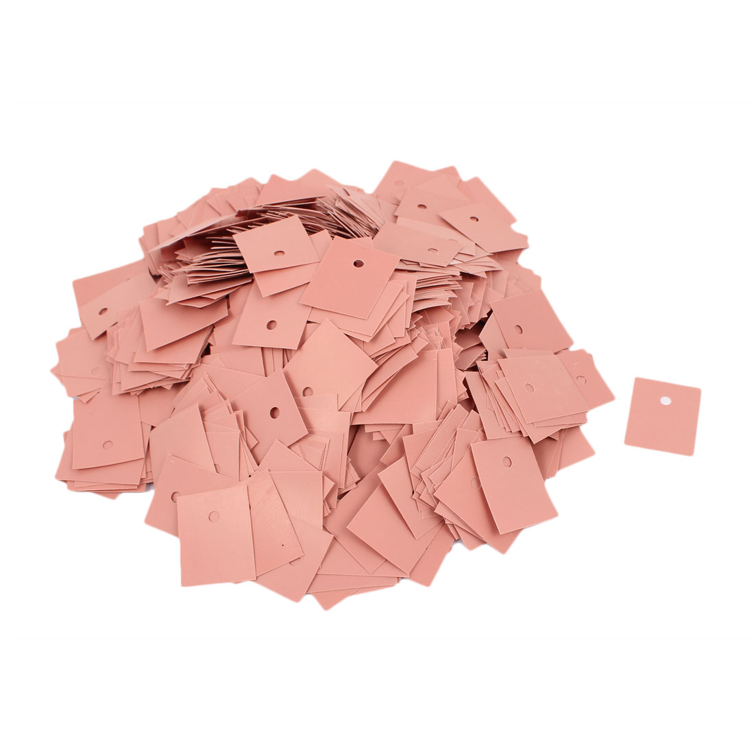 1000 Pcs Silicone Thermal Heatsink Insulator Pads 20 x 25 x 0.23MM Pink for TO-3P