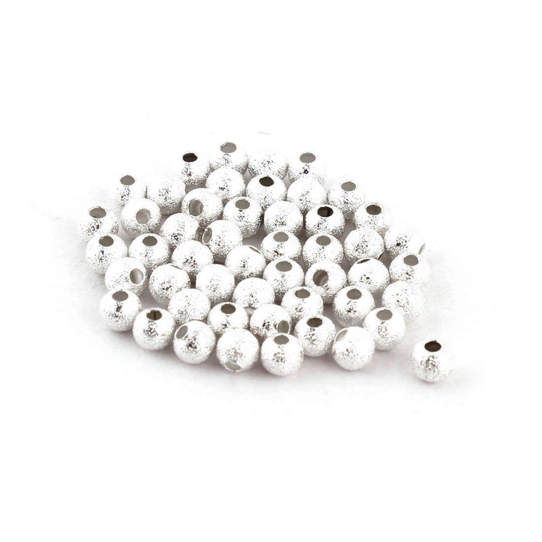 Lady Plastic DIY Necklace Bracelet Making Beads 4mm Diameter 50pcs