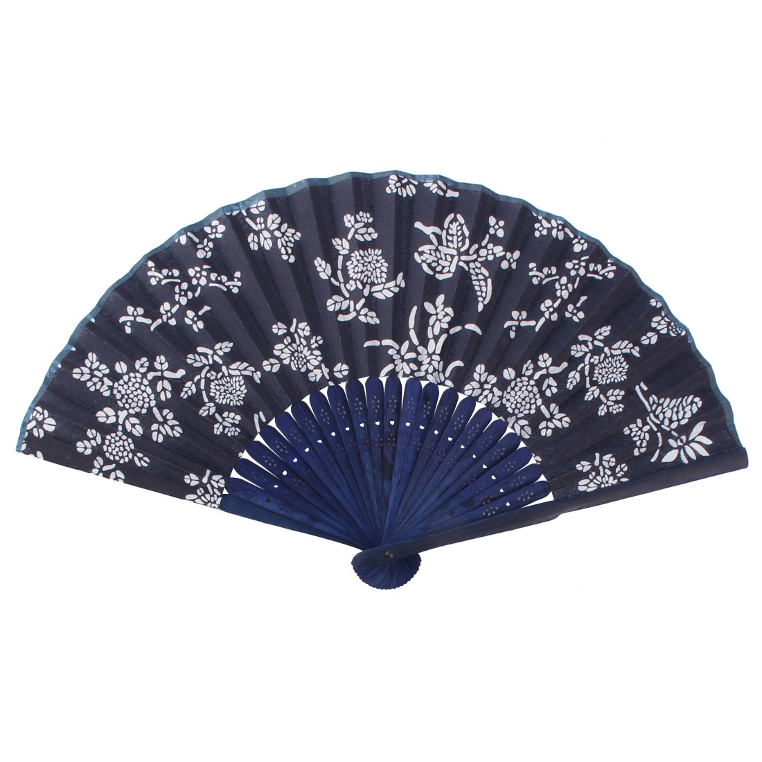 Dancing Wedding Party Bamboo Ribs Floral Printed Elegant Hand Folding Cooling Fan