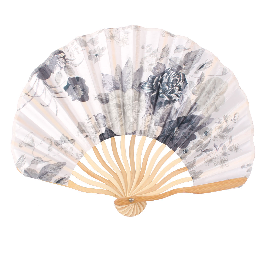Lady Dancing Party Bamboo Frame Peony Printed Summer Hand Folding Cooling Fan