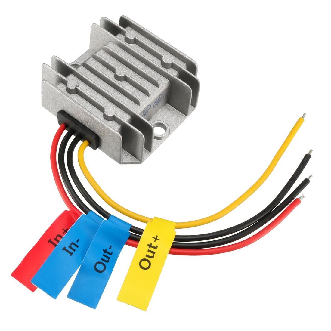 uxcell Voltage Reducer Converter Regulator DC 12V to DC 48V 1A 48W Power Boost