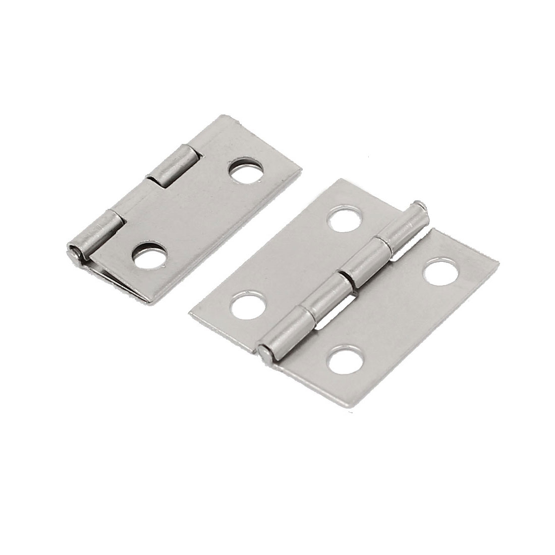 Jewelry Box Case Door Foldable Butt Hinges Silver Tone 18mm Length 2PCS