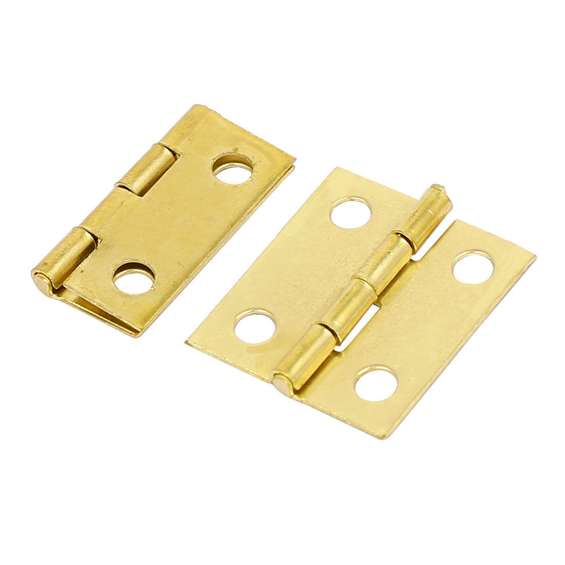 Jewelry Gift Box Wood Case Butt Hinges Gold Tone 18mm Length 2PCS