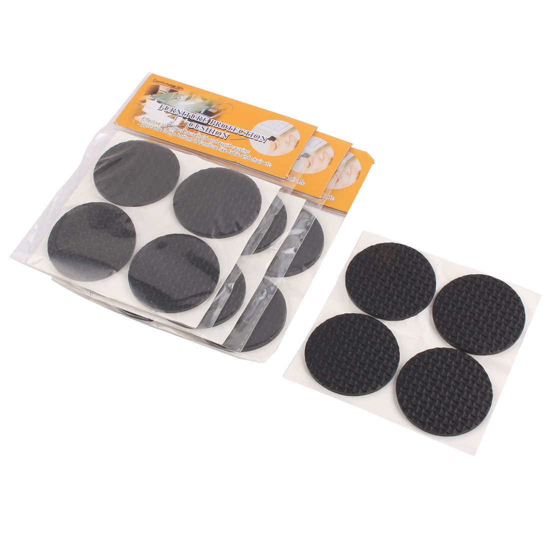 Home Rubber Round Table Chair Furniture Protector Cushion Pads Mat 42mm Dia 16pcs