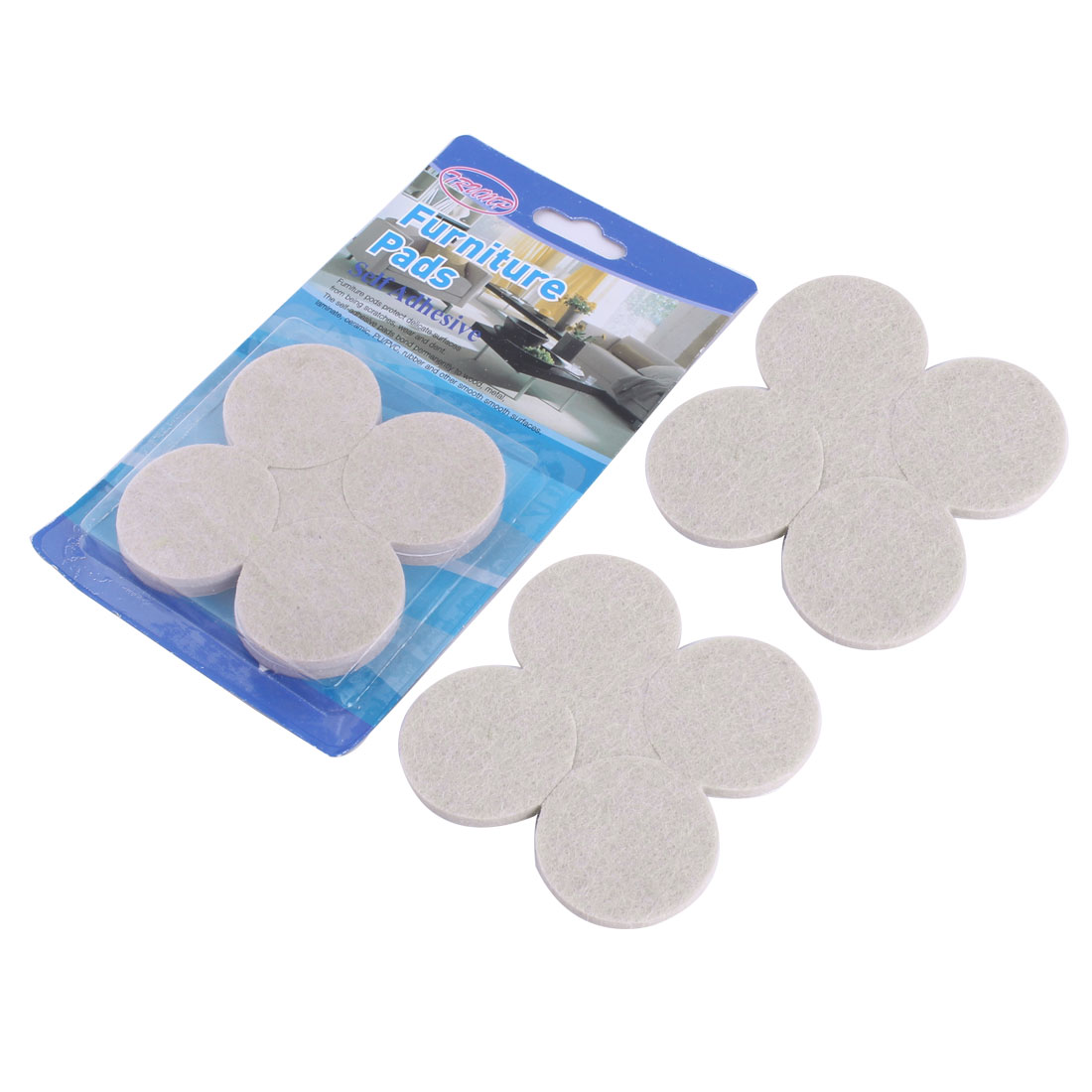 Home Round Table Chair Furniture Protector Felt Pads Cushion Mat 42mm Dia 16pcs