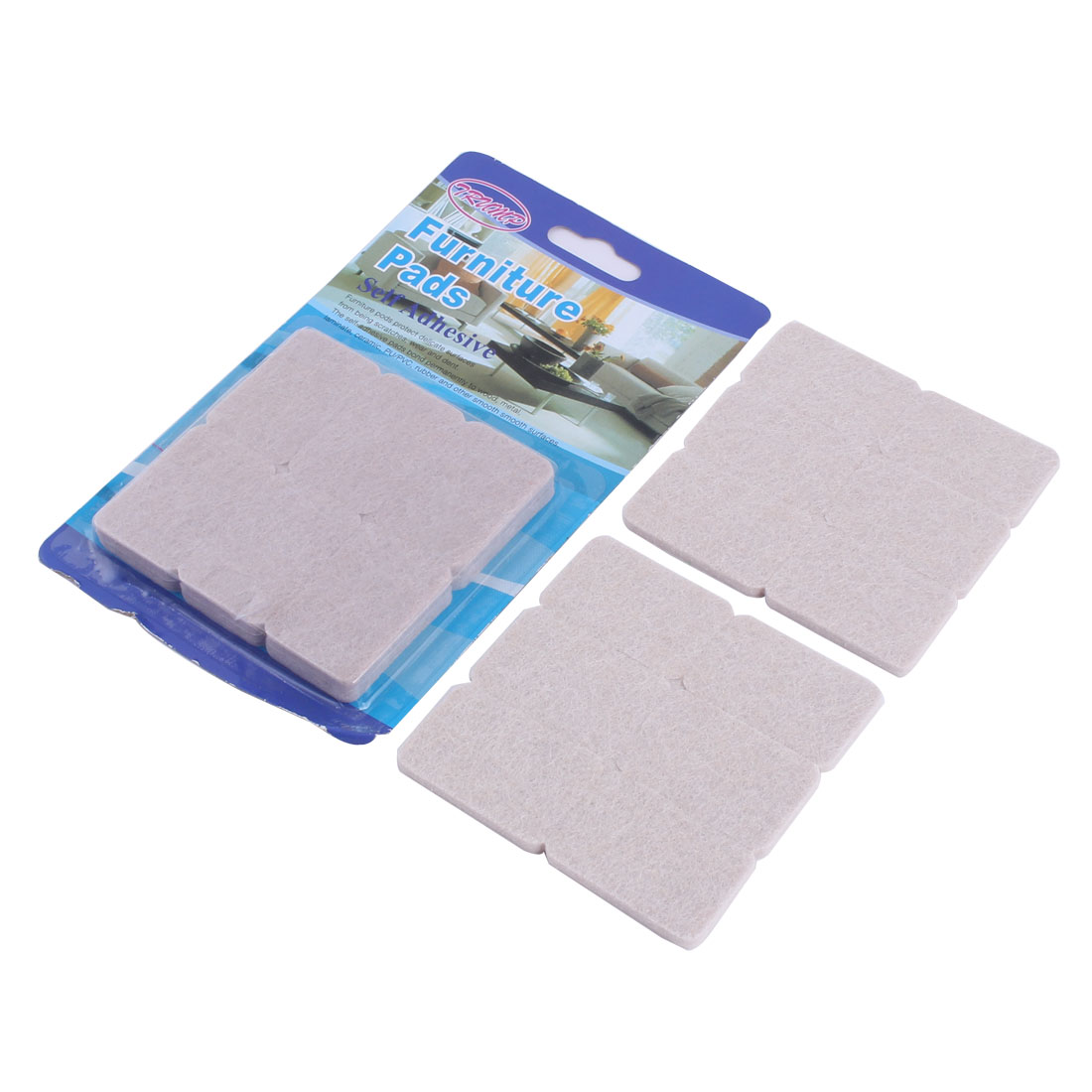 Home Rectangle Table Chair Furniture Protector Felt Pads Cushion Mat 42 x 28mm 24pcs