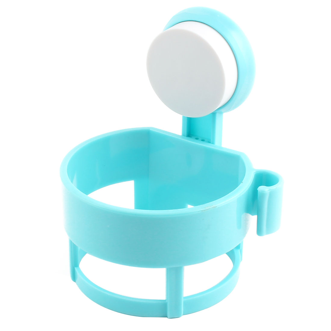 Home Bathroom Plastic Wall Suction Cup Hair Blow Dryer Holder Hanger Stand Blue