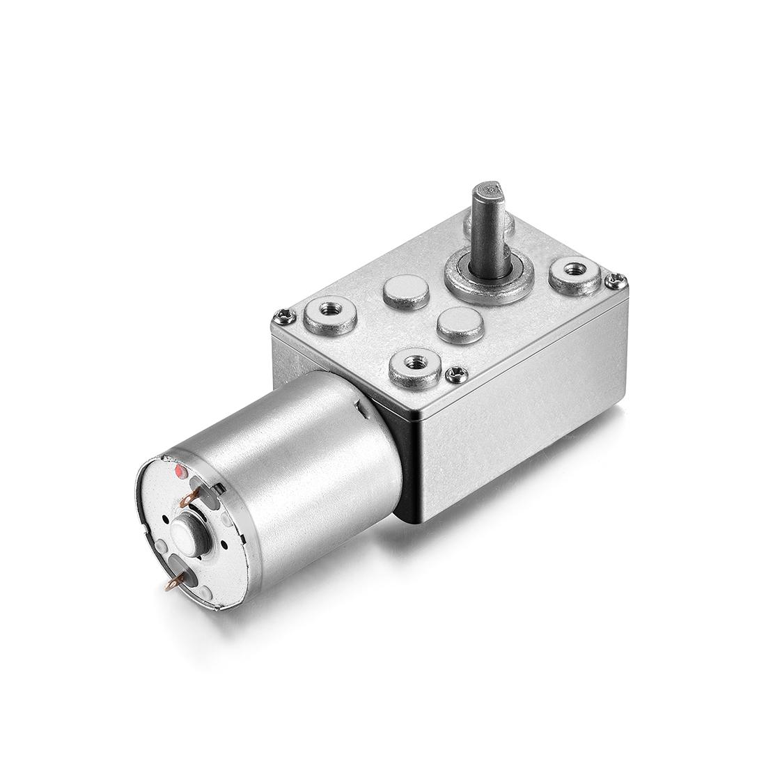 JSX330-370 DC 3V 15RPM 6mm Shaft High Torque Turbine Worm Gear Box Reduction Motor