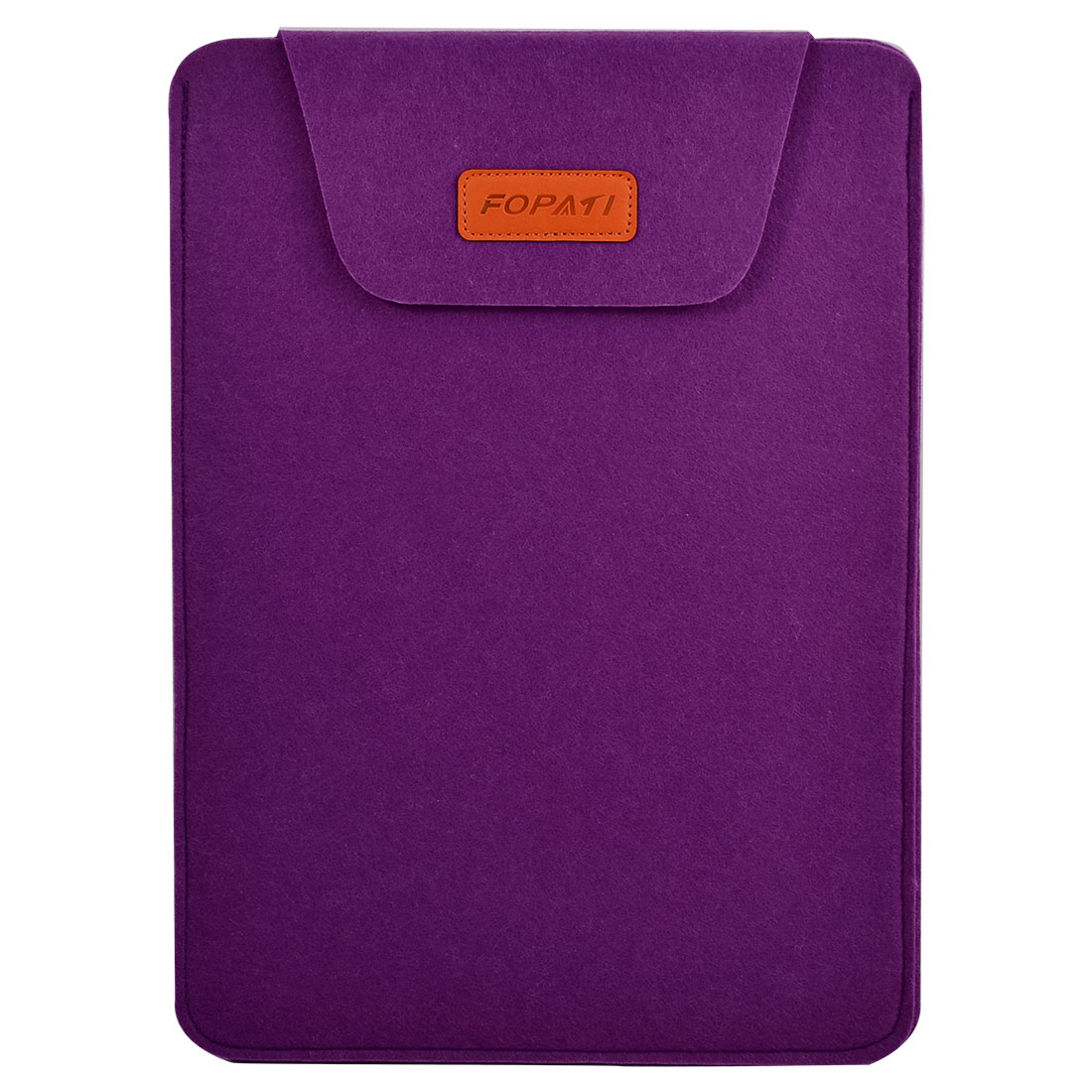 Home Computer Wool Felt Universal Protective Skin Notebook Sleeve Case Purple for 15.6 Inch Laptop