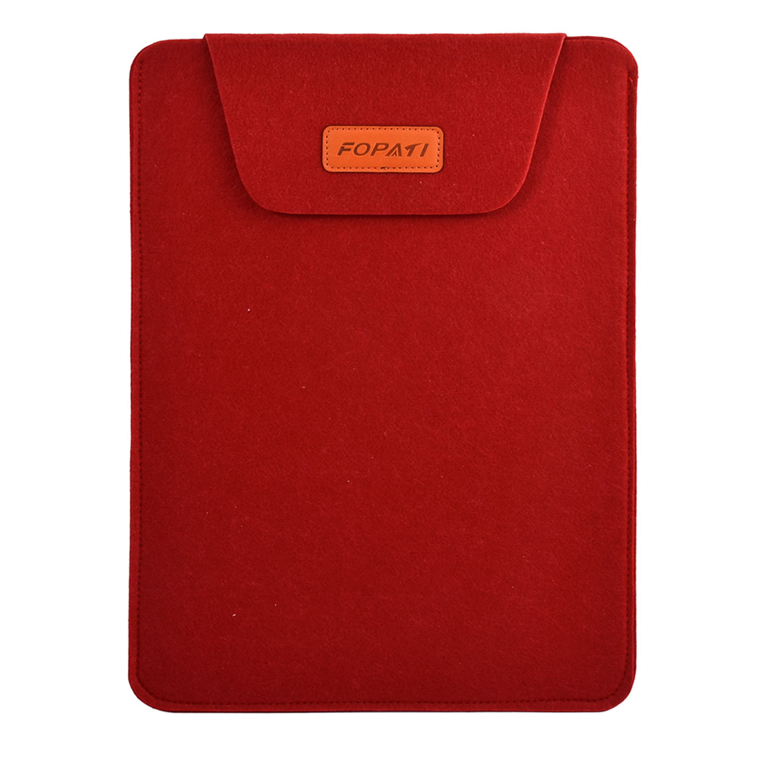 Home PC Wool Felt Universal Protective Skin Notebook Sleeve Case Red for 15.6 Inch Laptop