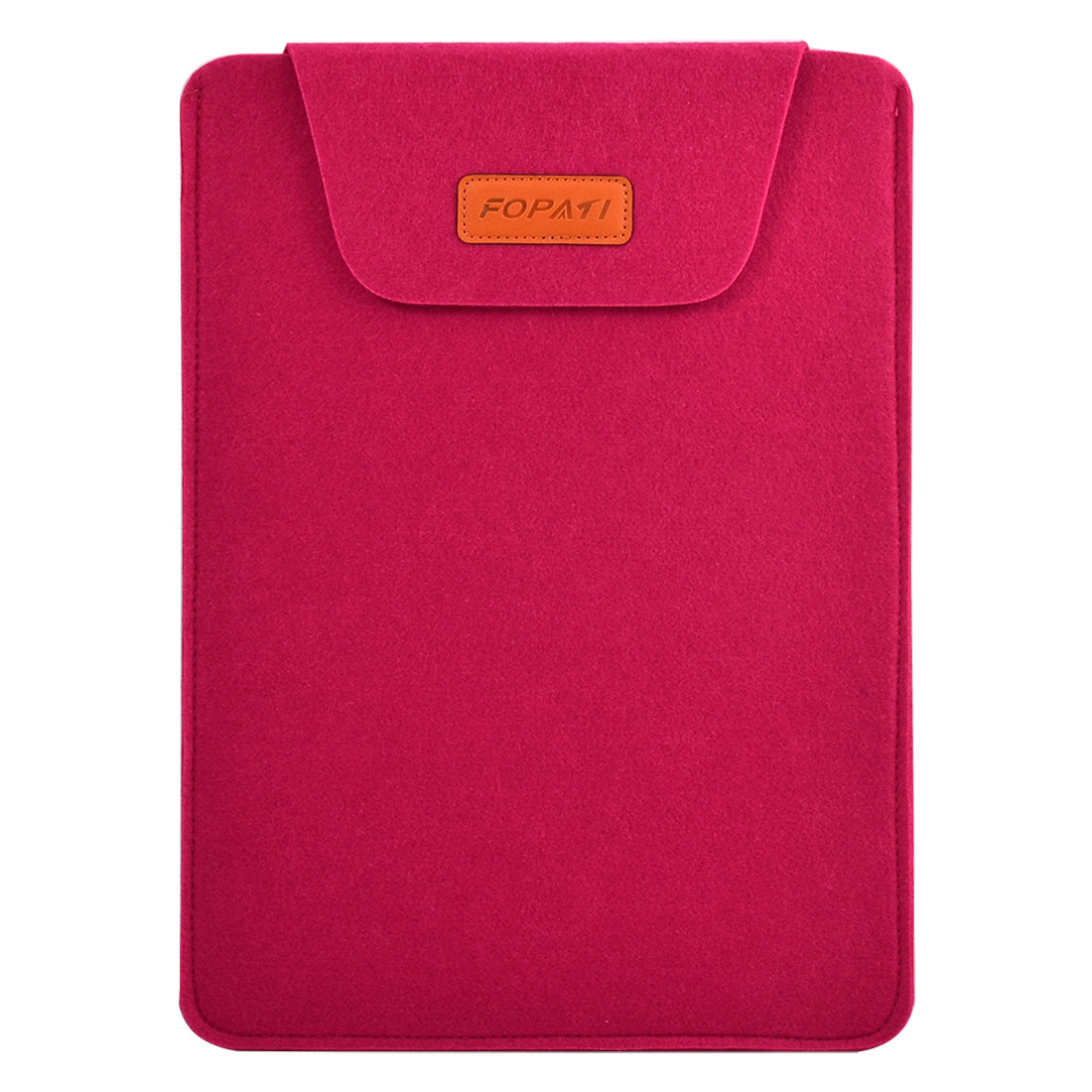 Office Computer Wool Felt Universal Protective Bag Notebook Sleeve Case Fuchsia for 14 Inch Laptop