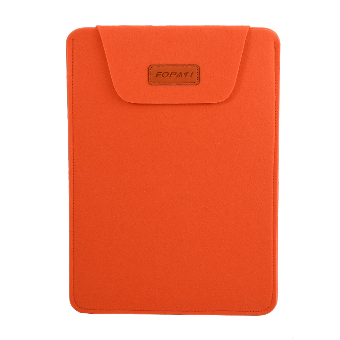 Office PC Wool Felt Universal Protective Shell Notebook Sleeve Case Orange for 14 Inch Laptop