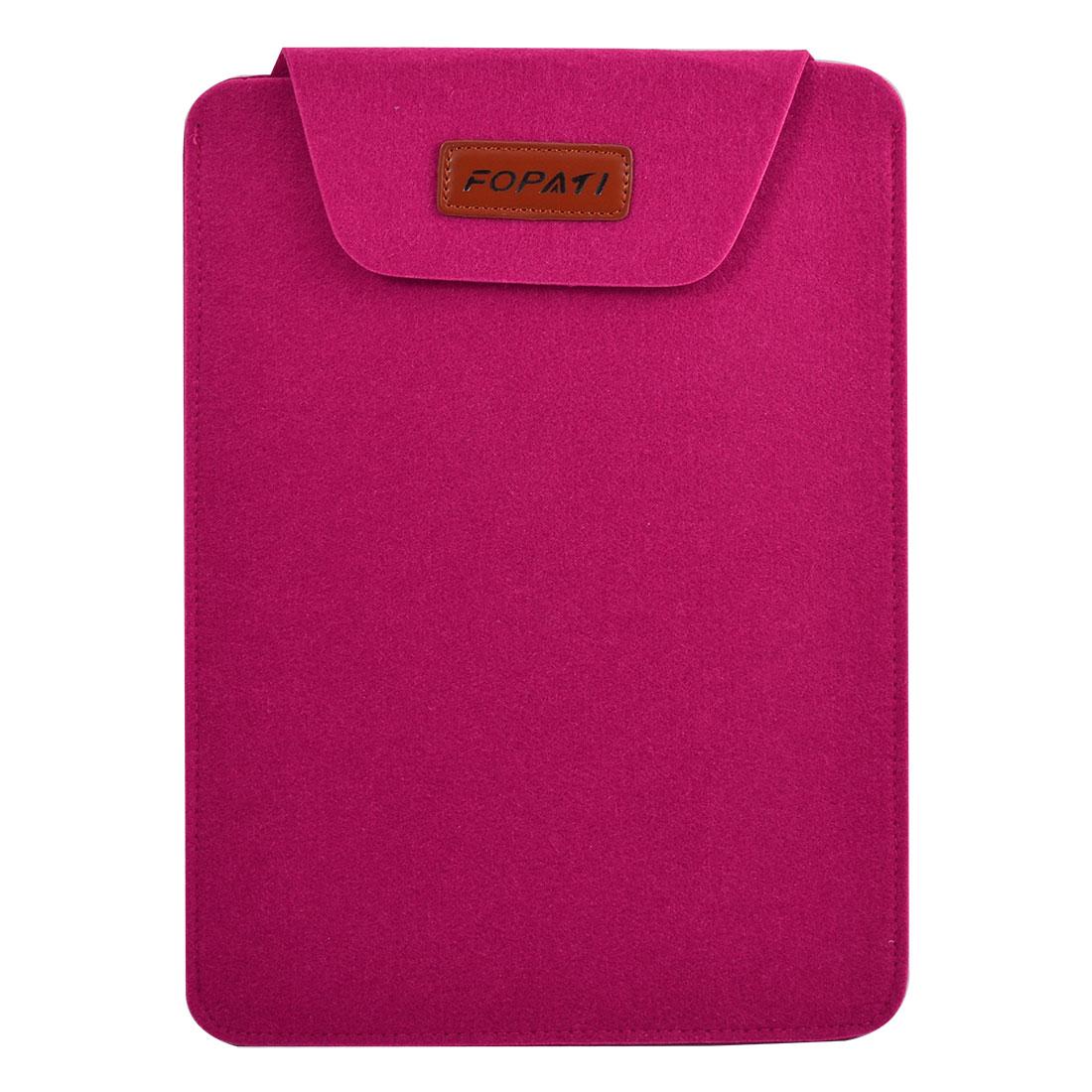 Computer Wool Felt Universal Laptop Skin Bag Notebook Sleeve Case Fuchsia for 13.3 Inch Notebook