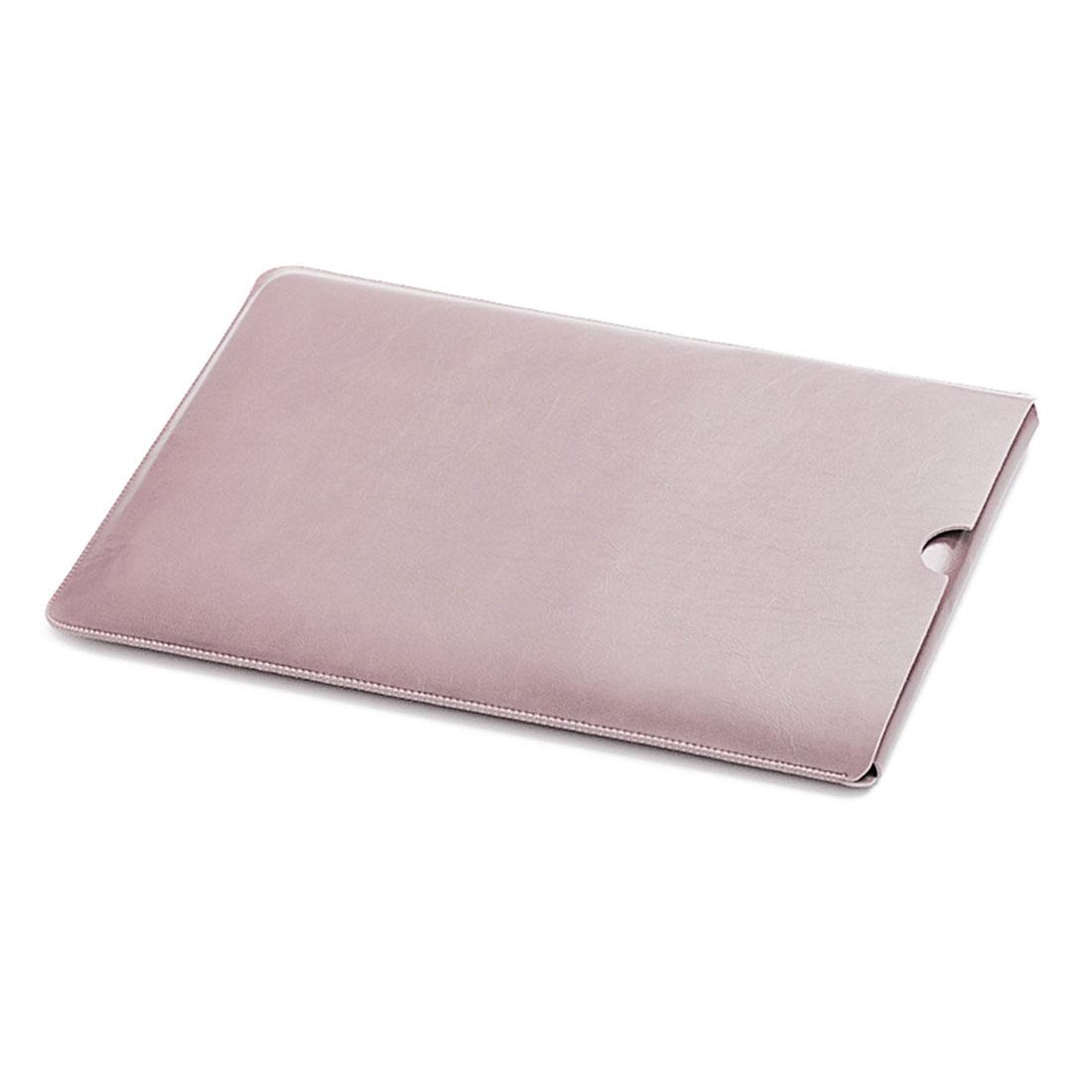 13 Inch Laptop Sleeve Case Leather Bag Rose Pink for Macbook ASUS ACER LENOVO Netbook