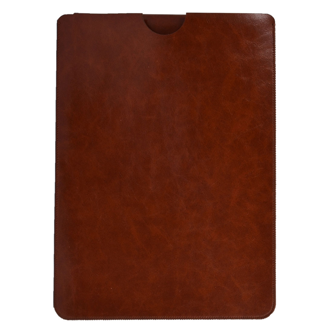 PC Notebook PU Leather Scratch Protective Laptop Sleeve Brown for Macbook 12 Inch