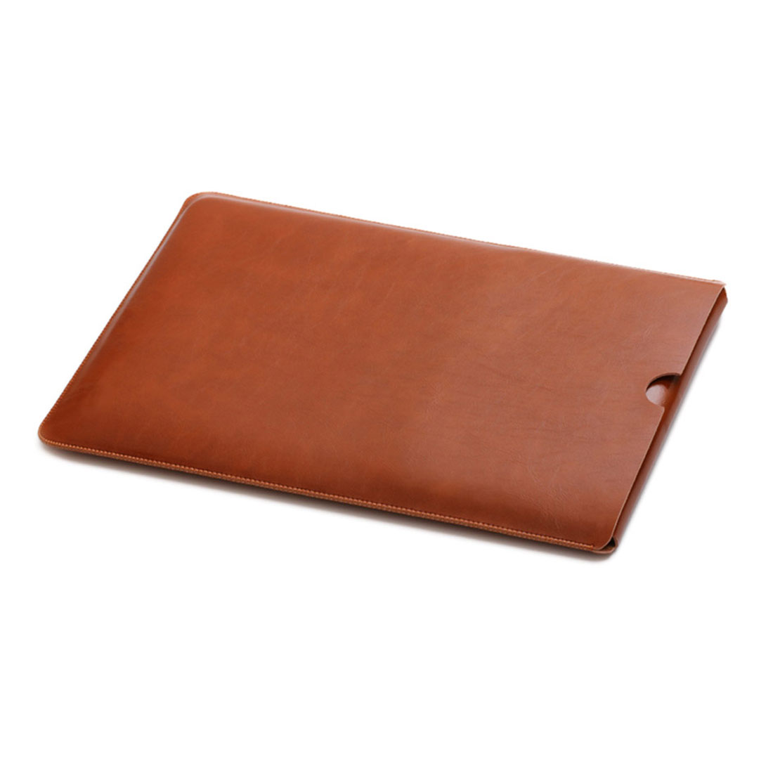 13 Inch Laptop Sleeve Case Leather Bag Brown for Macbook ASUS ACER LENOVO Netbook