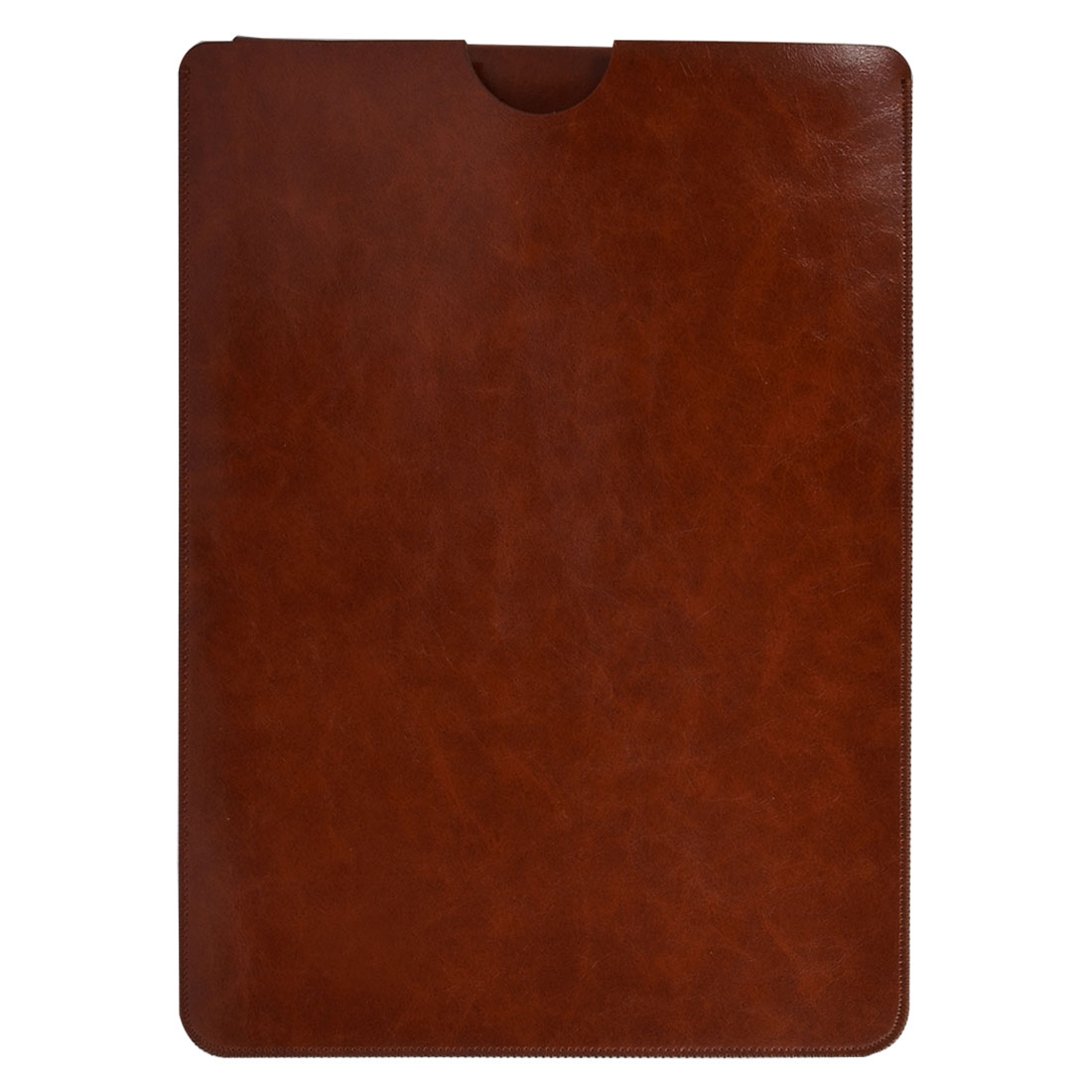 PC Computer PU Leather Notebook Case Cover Laptop Sleeve Brown for Macbook Air 13 Inch