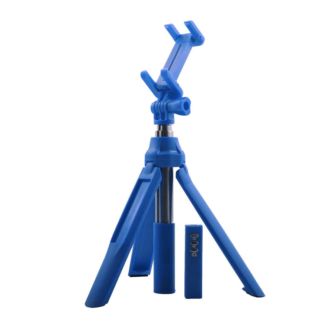 Smartphone Wireless bluetooth Remote Shutter Handheld Selfie Stick Tripod Holder Set Blue