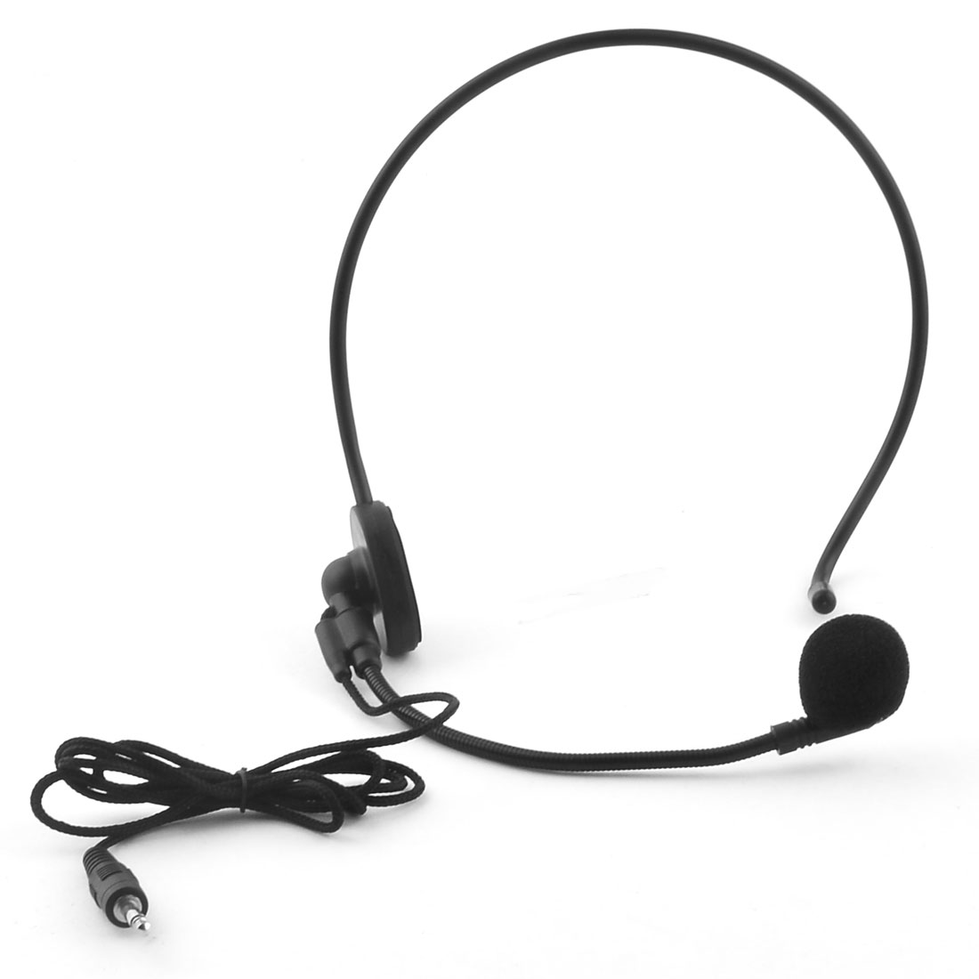 3.5mm Connector Head-mounted Headworn Headset Condenser Microphone Mic Wired Boom