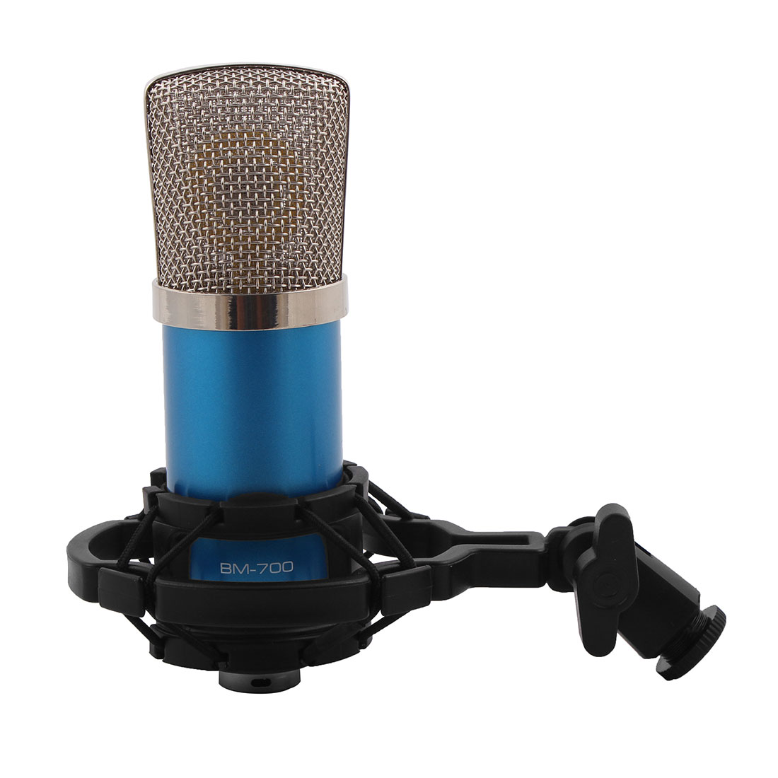 BM-700 3.5mm Wired Sound Recording Microphone Blue for KTV Singing
