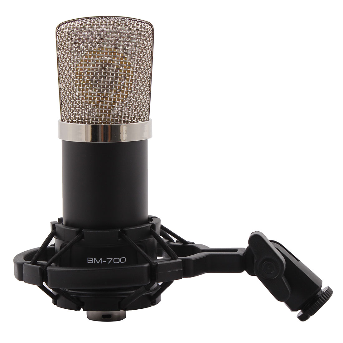 BM-700 3.5mm Wired Sound Recording Microphone Black for Karaoke Singing