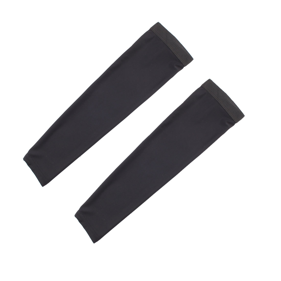 Outdoor Riding Polyester Anti-UV Stretchy Arm Sleeves Cover Protection Decor Black Size S Pair