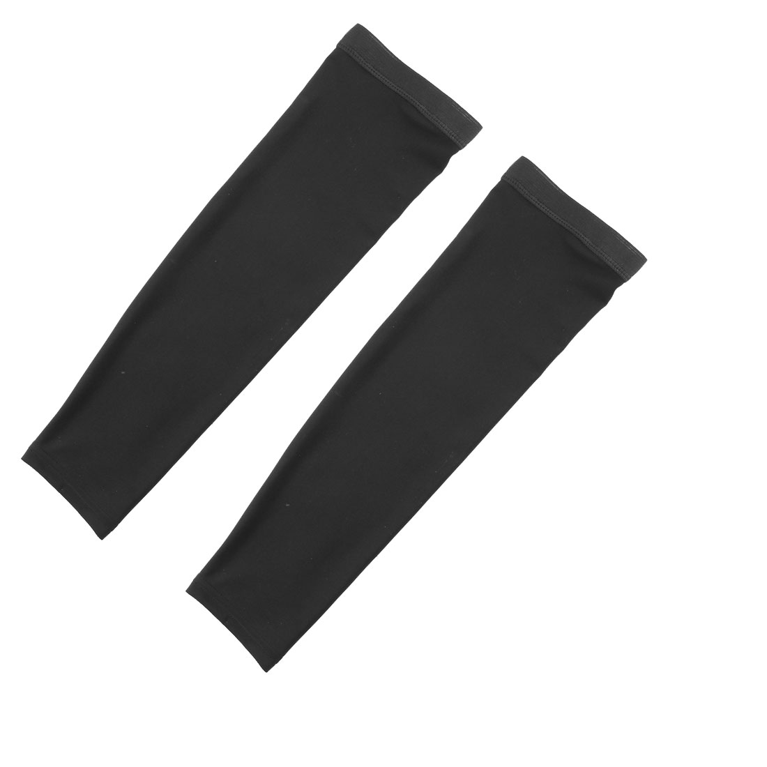 Outdoor Riding Polyester Anti-UV Stretchy Arm Sleeves Cover Protection Decor Black Size XL Pair