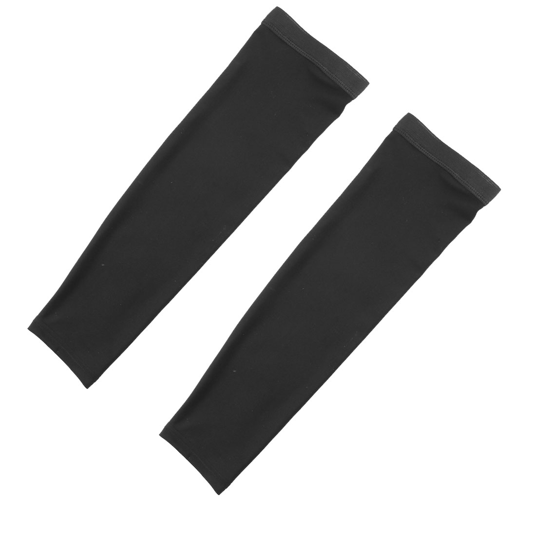Outdoor Riding Polyester Anti-UV Stretchy Arm Sleeves Cover Protection Decor Black Size XXL Pair