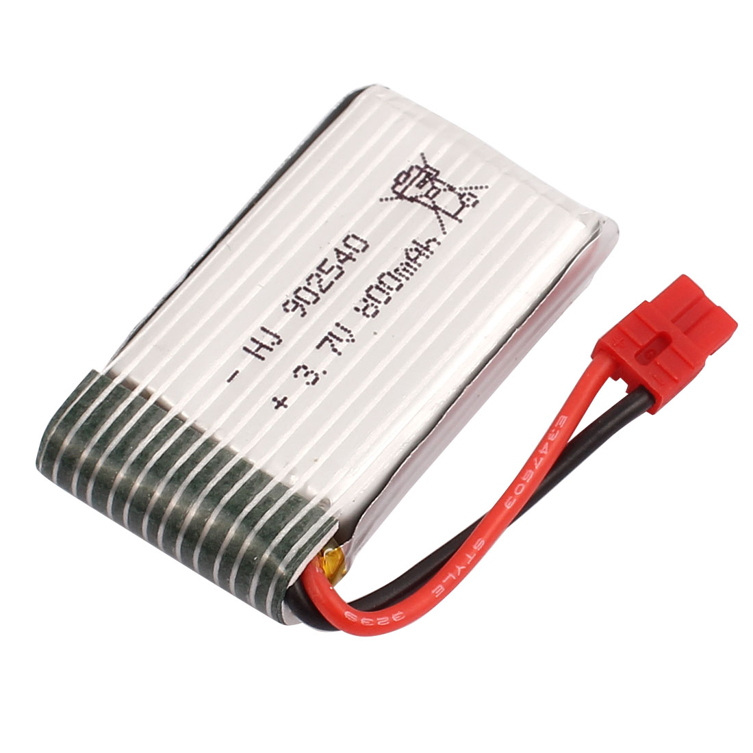 3.7V 800mAh Charging Lithium Polymer Li-po Battery XH-4.0 Connector for RC Airplane Aircraft