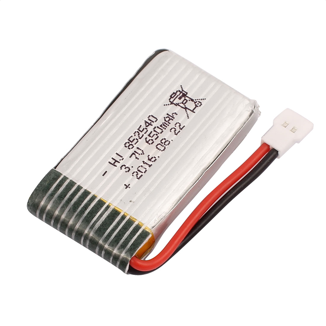 3.7V 650mAh Charging Lithium Polymer Li-po Battery MX2.0-2P Connector for RC Airplane Aircraft