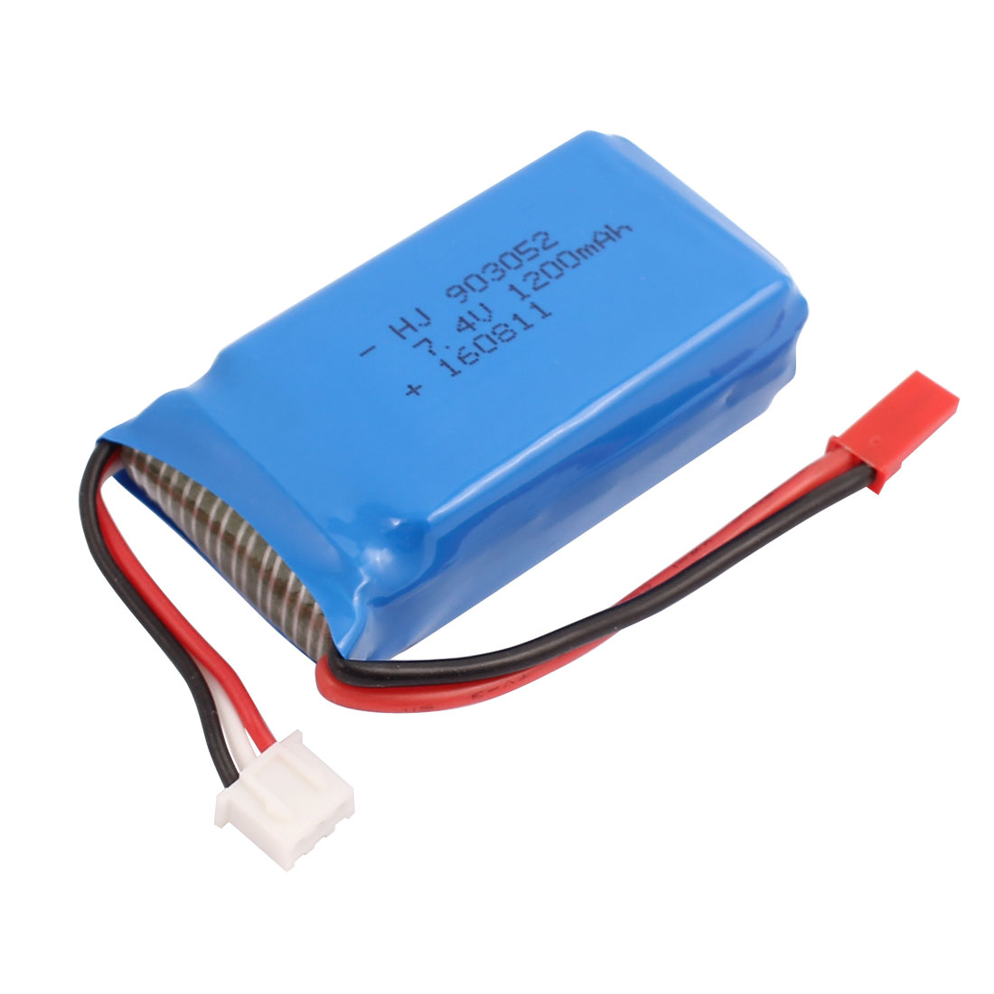 7.4V 1200mAh Charging Lithium Polymer Li-po Battery JST-2P XH-3P Connector for RC Airplane Aircraft