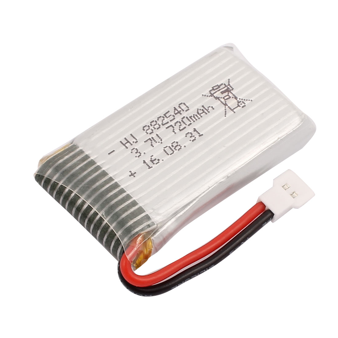 3.7V 720mAh Charging Lithium Polymer Li-po Battery MX2.0-2P Connector for RC Airplane Aircraft