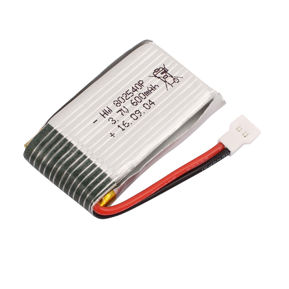 3.7V 600mAh Charging Lithium Polymer Li-po Battery MX2.0-2P Connector for RC Airplane Aircraft