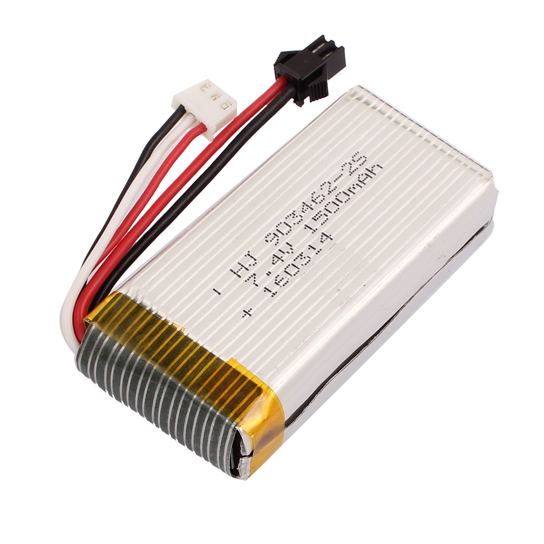 7.4V 1500mAh Charging Lithium Polymer Li-po Battery SM-2P XH-3P Connector for RC Airplane Aircraft